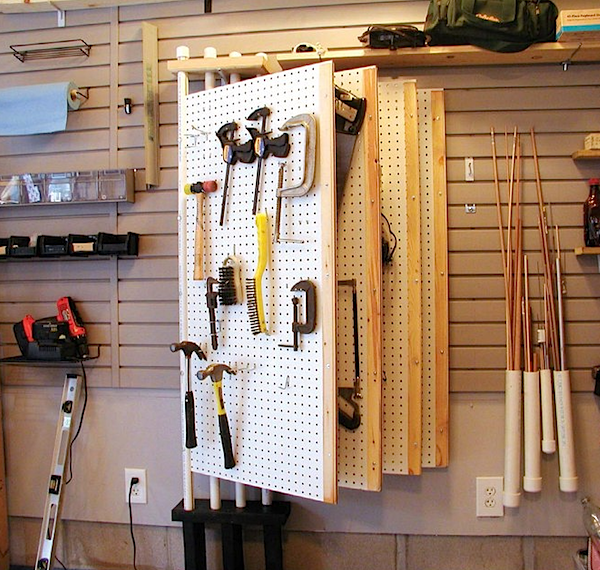 pegboard magazine for tool organization dale dougherty dalepd. Black Bedroom Furniture Sets. Home Design Ideas