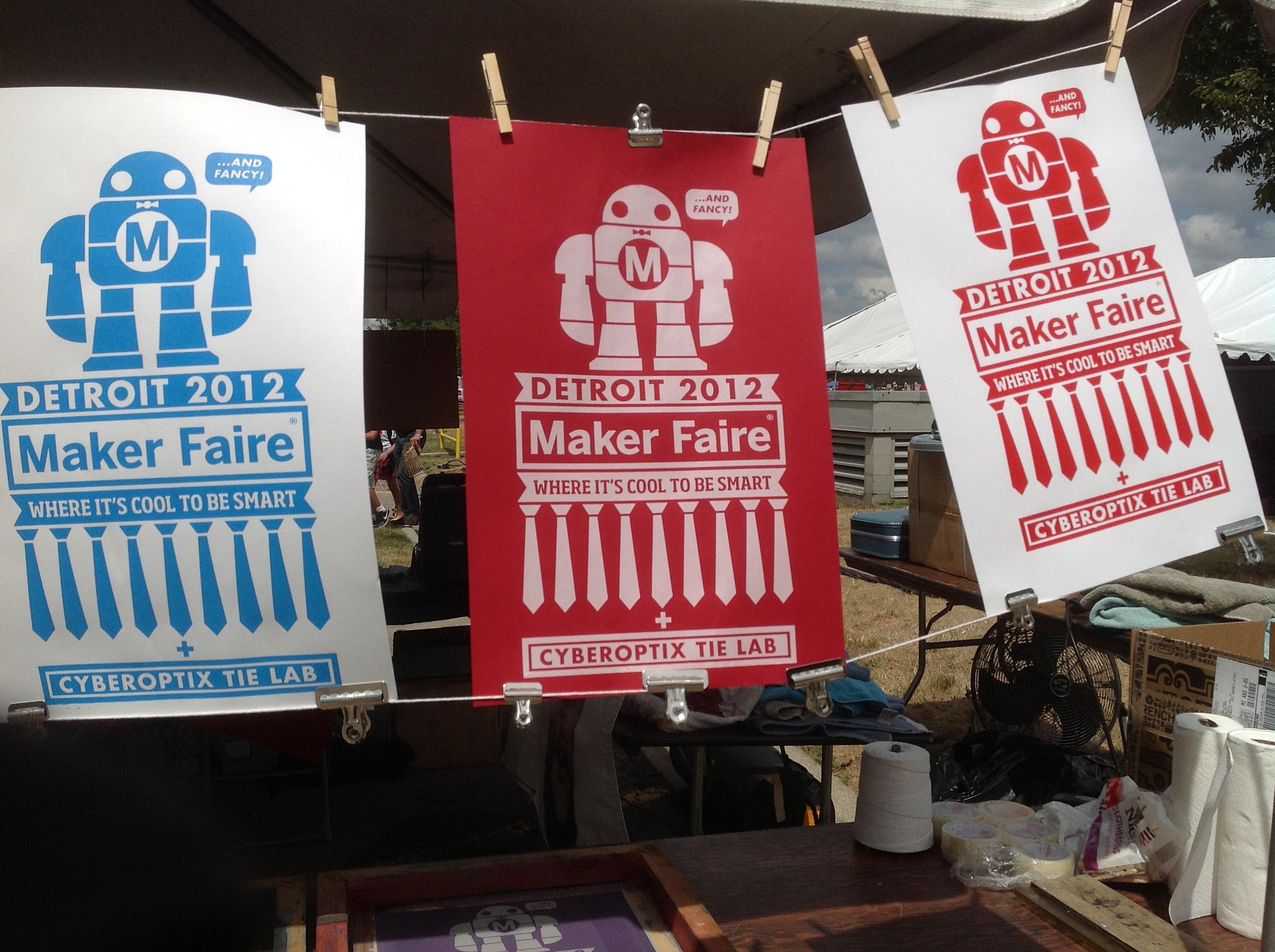 cyberoptix tie lab s terrific posters for maker faire detroit dale